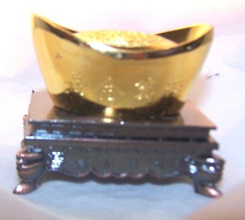 Golden Chinese Feng Shui Ingot by Asian Home