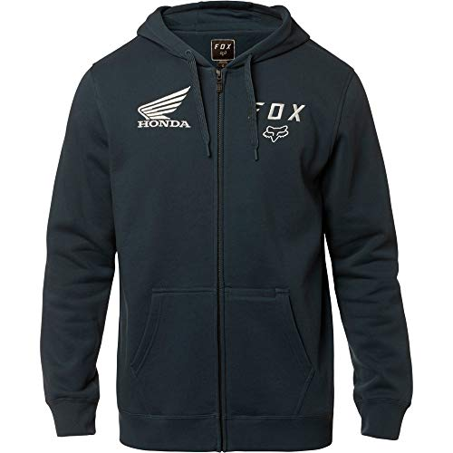 Hoody Sweatshirt Honda (Fox Racing Honda Zip Fleece Hoodie-Navy-XL)