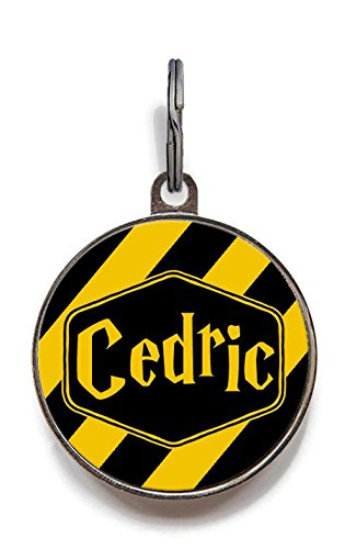 Image of Wag-A-Tude Tags Hufflepuff Dog Name Tag, Personalized Dog Tag (Large)