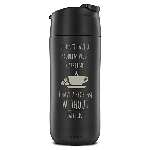 12 Ounce convert and Sip Insulated Engraved Mug, Problem with the help of Caffeine