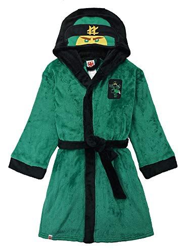 LEGO Ninjago Little/Big Boys Costume Plush Robe, Lloyd Green, 4/5