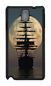 Samsung Note 3 Case,VUTTOO Stylish Pirate Ship Moon Hard Case For Samsung Galaxy Note 3 / N9000 / Note3 - PC Black