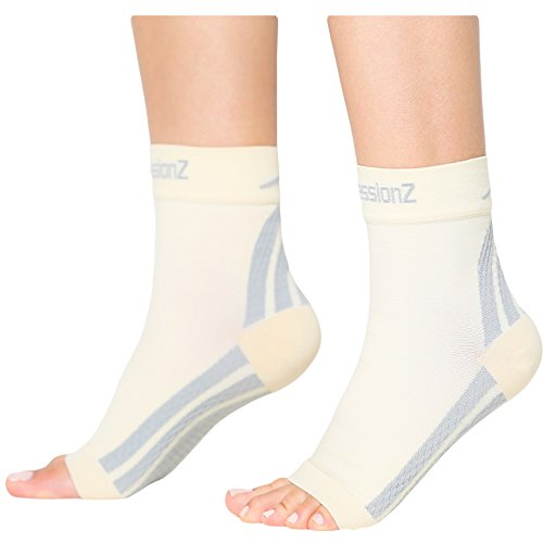 Plantar Fasciitis Socks – Compression Foot Sleeves – Ankle Brace with Arch Support – Pain Relief from Heel Spurs, Edema, Achilles Tendonitis – Reduce Swelling & Improve Circulation By CompressionZ – DiZiSports Store
