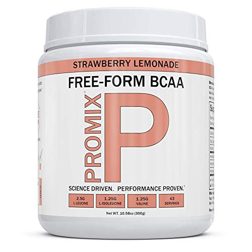BCAA Powder Amino Acid Energy Branched Chain I Vegan Keto Paleo Instantized Essential Fermented I Non GMO Gluten + Soy Free Form Fasting I 100% Pure Performance Promix (Strawberry Lemonade)