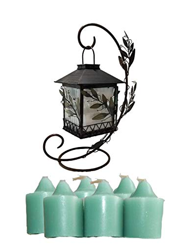 (ShoppeShare Bundle Includes: Retired PartyLite Garden Lites Lantern Votive Holder and 1 Dozen Summer Thyme Scented Votives.)
