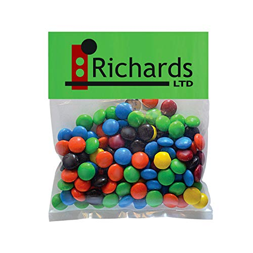 Candy Gift Pack-M&Ms with CUSTOMIZED Business Card Magnet in Small Header Pack- BULK Quantities-100, 250, 500 or 1000…