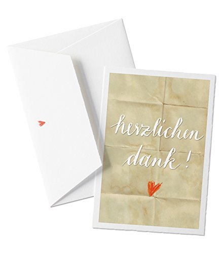 Schone Danksagungskarte Herzlichen Dank Beige Dankeskarte Mit