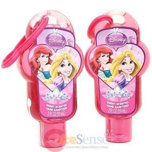 Disney Hand Sanitizer  Princess Gels with Backpack Clip