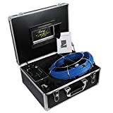 Sewer Camera Waterproof IP68 with DVR 30M/100FT Cable/Endoscope Inspection Camera with 7 Inch LCD Monitor 1000TVL Sony CCD Pipe Camera for Sewer (Free 8GB SD Card)