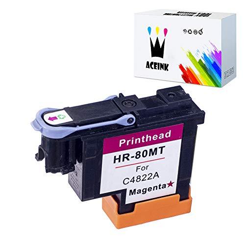 AceInk 1 Pack HP 80 Magenta Printhead with Latest Chips C4822A Compatible for HP DesignJet 1050c 1050c Plus 1055C 1055cm 1055cm Plus