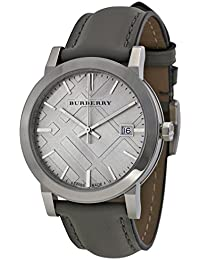 Light Grey Dial Grey Leather Ladies Watch BU9036