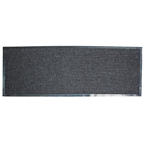 Runner Floor Mat - J & M Home Fashions Ribbed Runner Utility Mat, 22-Inch by 60-Inch, Charcoal