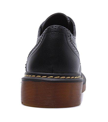 Lacets à Chaussures Femme Minotta Ville Noir pour de xtSpqI