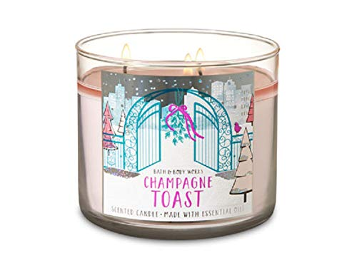 Holiday Champagne - Bath and Body Works CHAMPAGNE TOAST 3 Wick Candle 2018 Holiday Collection