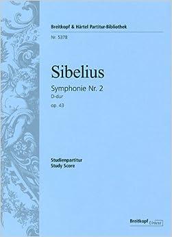 シベリウス: 交響曲 第2番 ニ長調 Op.43/ブライトコップ & ヘルテル社/小型スコア