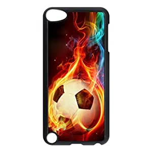 J-LV-F Customized Print Football Pattern Hard Case for iPod Touch 5
