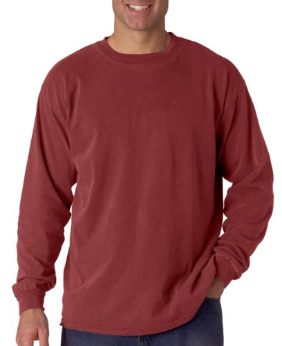 Comfort Colors Ringspun Garment-Dyed Long-Sleeve T-Shirt, Large, BRICK Comfort Colors 100% Garment