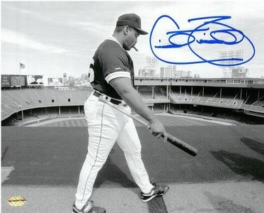 - CECIL FIELDER AUTOGRAPHED DETROIT TIGERS 8X10 PHOTO #1 - TIGER STADIUM ROOF