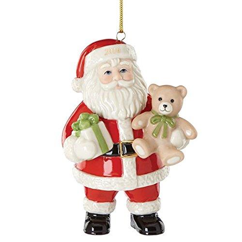Lenox 2016 Santa Figurine Ornament Annual Good Tidings Teddy Christmas