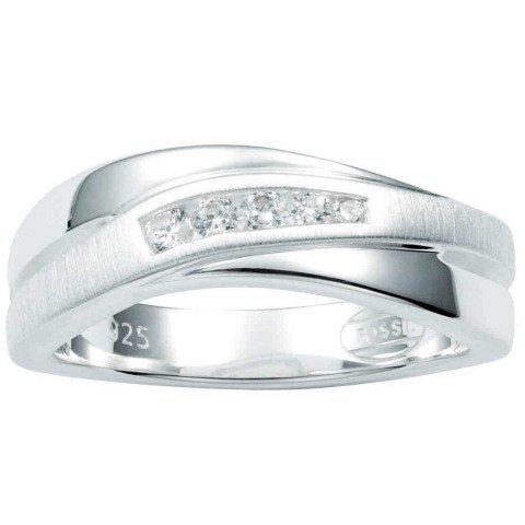 FOSSIL Damen Silber Ring 925 Sterling Silber 170 mm JF12766040