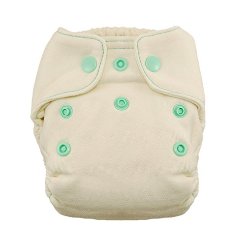 - Thirsties Snap Natural Newborn Bamboo Fitted Cloth Diaper, Moss