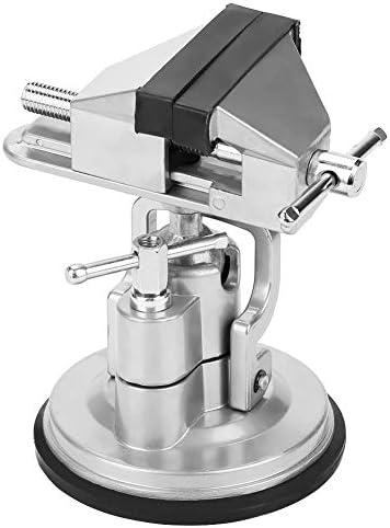 Qiilu 卓上万力 バイス テーブルプバイス 作業台 固定 簡単設置 DIY 固定 切断 穴あけ 盤 回転万力 吸盤 機械加工