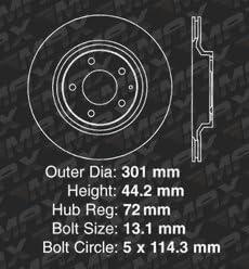 Fits: 2004 04 2005 05 2006 06 2007 07 2008 08 Mazda RX-8 KM006082 Max Brakes Rear Supreme Brake Kit E-Coated Slotted Drilled Rotors + Ceramic Pads