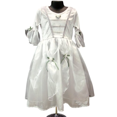 Girls Deluxe Princess Bride Quality Dress Up Costume Medium (Kids Bride Costume)