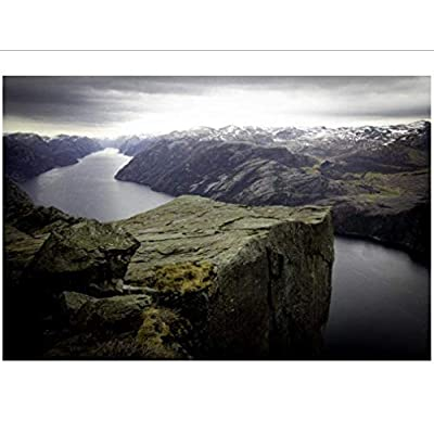 QPGGY Wooden Puzzles for Adults 1000 Piece Jigsaw Picture Norway Fjord Nature Landscape Picture-46 Assembling Zigsaw Puzzles Educational Toys Games: Toys & Games