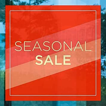 5-Pack 24x24 Modern Diagonal Window Cling CGSignLab Seasonal Sale