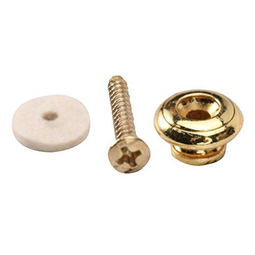 Golden Mushroom Head Guitar Strap Button