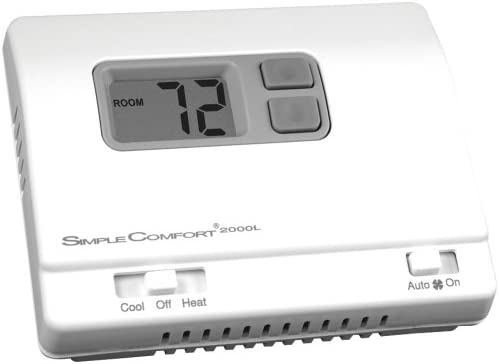 icm controls sc2000l simple comfort non-programmable thermostat with  backlit display, honeywell: t8400, t8401 series, robert shaw: 300-206, 8400-1,  9400,