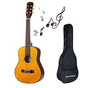 Acoustic Guitar Kid Beginner Guitar Classical Guitar 1/2 Half Size 30 inch Steel Strings With Gig Bag 411TBLaX0BL