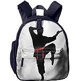 Kids Backpack Cute Karate Men Printed School Bag Cartoon Travel Bag For Girls Boys