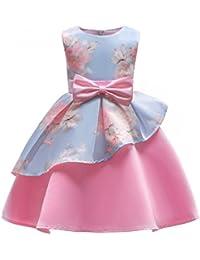 Flower Girls Dresses Kids Floral Print Party Dress