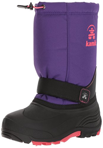 Kamik Waterproof Snow Boots - Kamik Girls' Rocket Snow Boot, Purple/Rose, 4 Medium US Big Kid