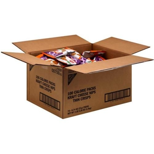 Kraft 100 Calorie Packs Cheese Nips, 0.74 Ounce Bags (Pac...