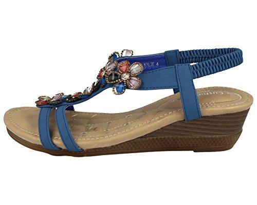 Foster Pour Bleu Sandales Footwear Femme C7wqZCR