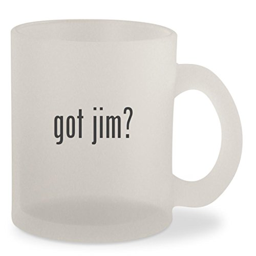 got jim? - Frosted 10oz Glass Coffee Cup - Jim Harbaugh Glasses