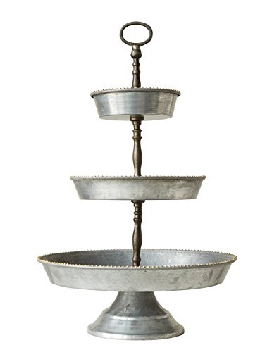 Cheap Creative Co-op DA7386 Decorative 3 Tier Metal Tray