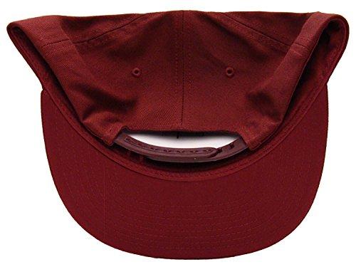 Obey The City Burgundy Snapback Cap Hat