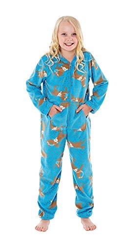 Pijama de una pieza para niños, varios diseños Horse Blue 1