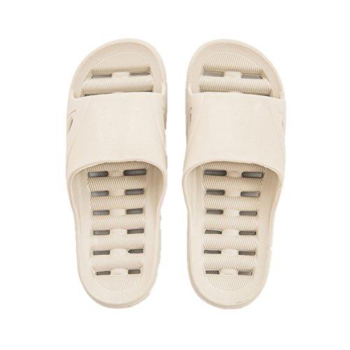 TELLW Bathroom Slippers for Male Female Summer Home Indoor Anti-Slip Thick Bottom Cool Slippers Men Khaki NtvfhaRhL