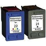 Prestige Cartridge HP 21XL / HP 22XL - Pack de 2 cartuchos de tinta para HP DeskJet Serie - color y negro