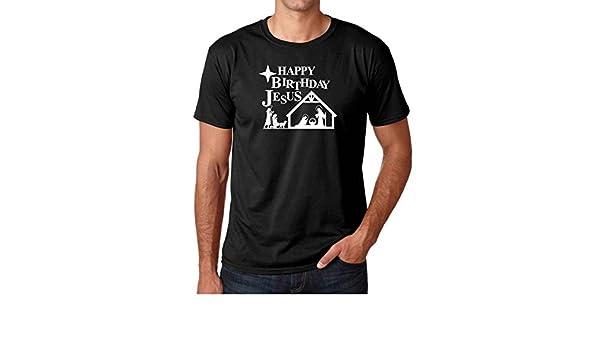 Amazon.com: AW Fashions Happy Birthday Jesus - X-Mas Spirit Premium Mens T-Shirt: Clothing