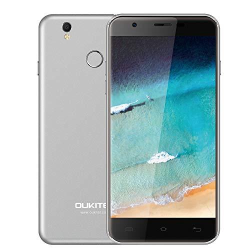 Unlocked Cell Phones, Oukitel U7 Plus Unlocked Smartphone 5.5 Inch Dual SIM Android 6.0 Quad Core 2GB RAM 16GB ROM Mobile Phone 2500mAh-Grey