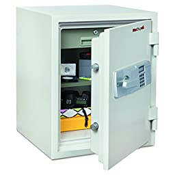 FireKing KF18142WHE Two Hour Fire and Water Safe, 1.85 ft3, 19 2/3 x 18 1/2 x 24, White (FIRKF18142WHE)