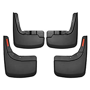 Husky Liners 58266 Black Front and Rear Custom Mud Guards Fits 2019 Chevrolet Silverado 1500-New Body, 4 Pack