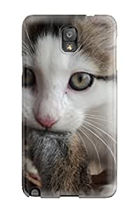 Fashionable OSgHQmw5709bfFQD Galaxy Note 3 Case Cover For Huntress Cat Animal Cat Protective Case