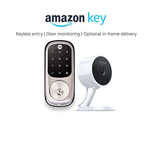 Yale Assure YRD226 Touchscreen Deadbolt in Satin Nickel + Amazon Cloud Cam, works with Amazon Key